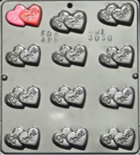 Amazon Com Heart Cluster Lollipop Chocolate Candy Mold Valentines