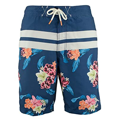 Tommy Bahama Baja Saltwater Blooms Swim Trunks (Color: Throne Blue, Size M) | .com