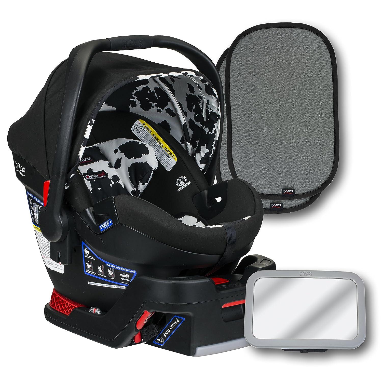 Britax B-Safe Ultra Infant Auto Seat, Cowmooflage, zurück Seat Mirror, und 2 Ez-Cling Window Sonne Shades