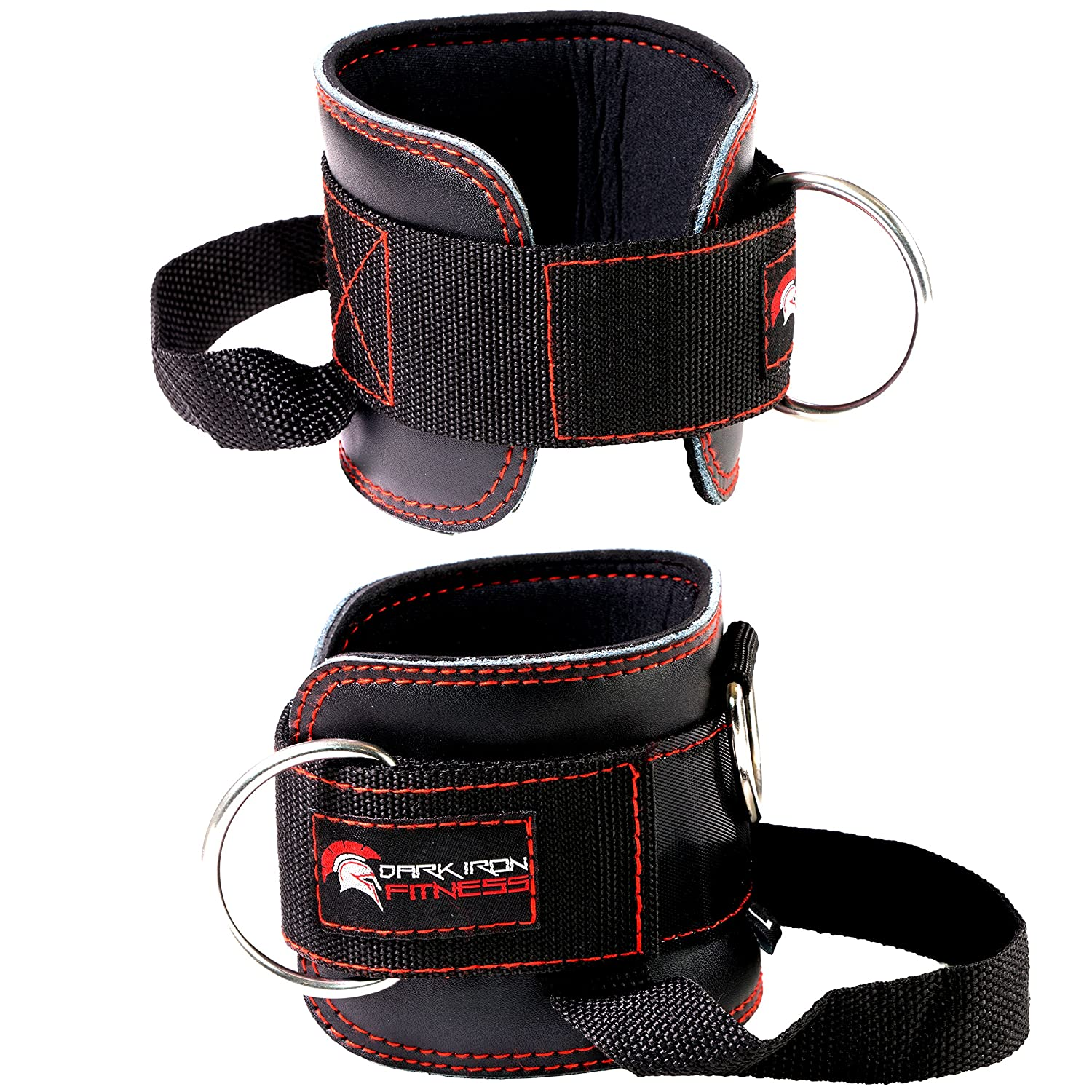 The Best Cable Exercises with an Ankle Strap - Dark Iron Fitness NEW Leather Ankle Strap