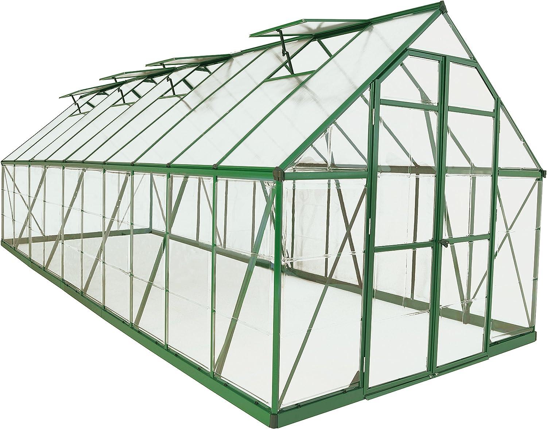 Palram Balance Hobby Greenhouse, 8' x 20', Green