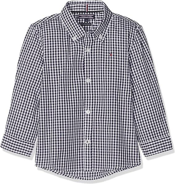 Tommy Hilfiger Boys Gingham Shirt L/S Blusa para Niños: Amazon.es: Ropa y accesorios