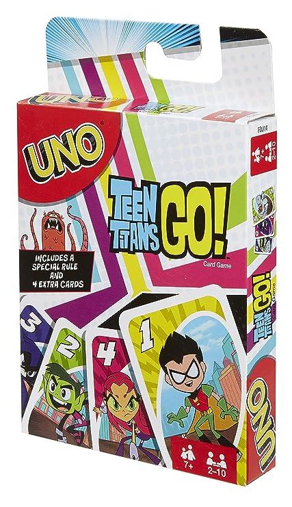 Amazon.com: Uno Teen Titans Go. Juego de cartas: Toys & Games