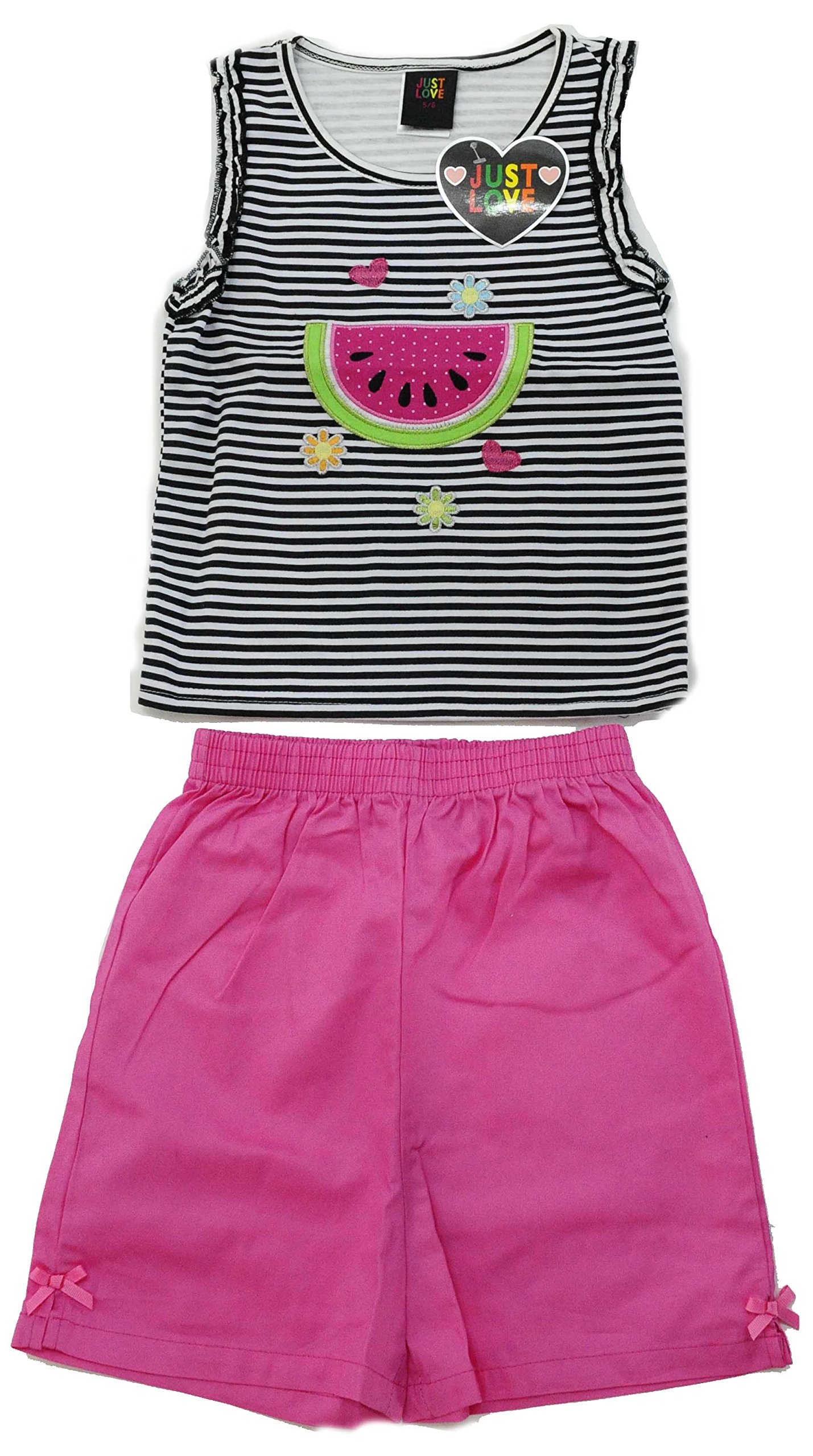Just Love 4008-2T Two Piece Girls Shorts Set