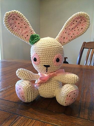 Amazon.com: Huggy Bunny Amigurumi Crochet Pattern (Big Huggy Dolls ... | 500x375
