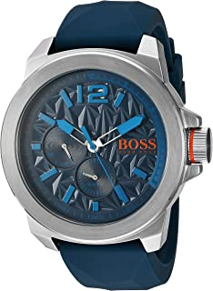 Amazon.com  HUGO BOSS Orange Men s 1513286 berlin Analog Display ... d2e28a68d0d
