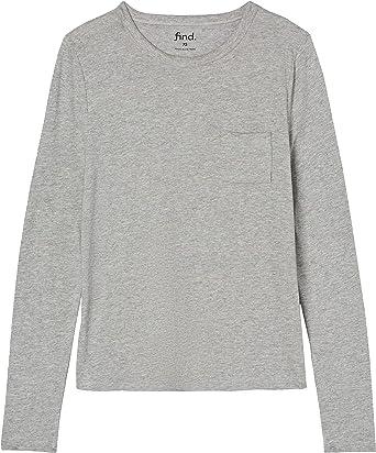 FIND T-shirt Girocollo a Manica Lunga Donna