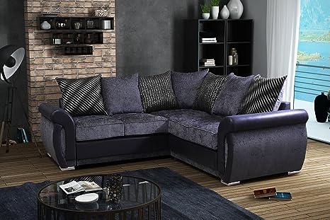 Lovesofas shannon c stripe tessuto suite divano angolare in