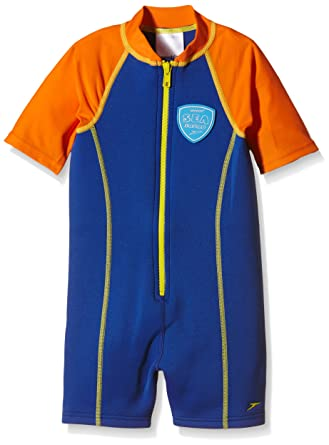 c507b937f1 Speedo Boys' Seasquad Hot Tot Suit - New Surf/Salso, 4 years: Amazon ...