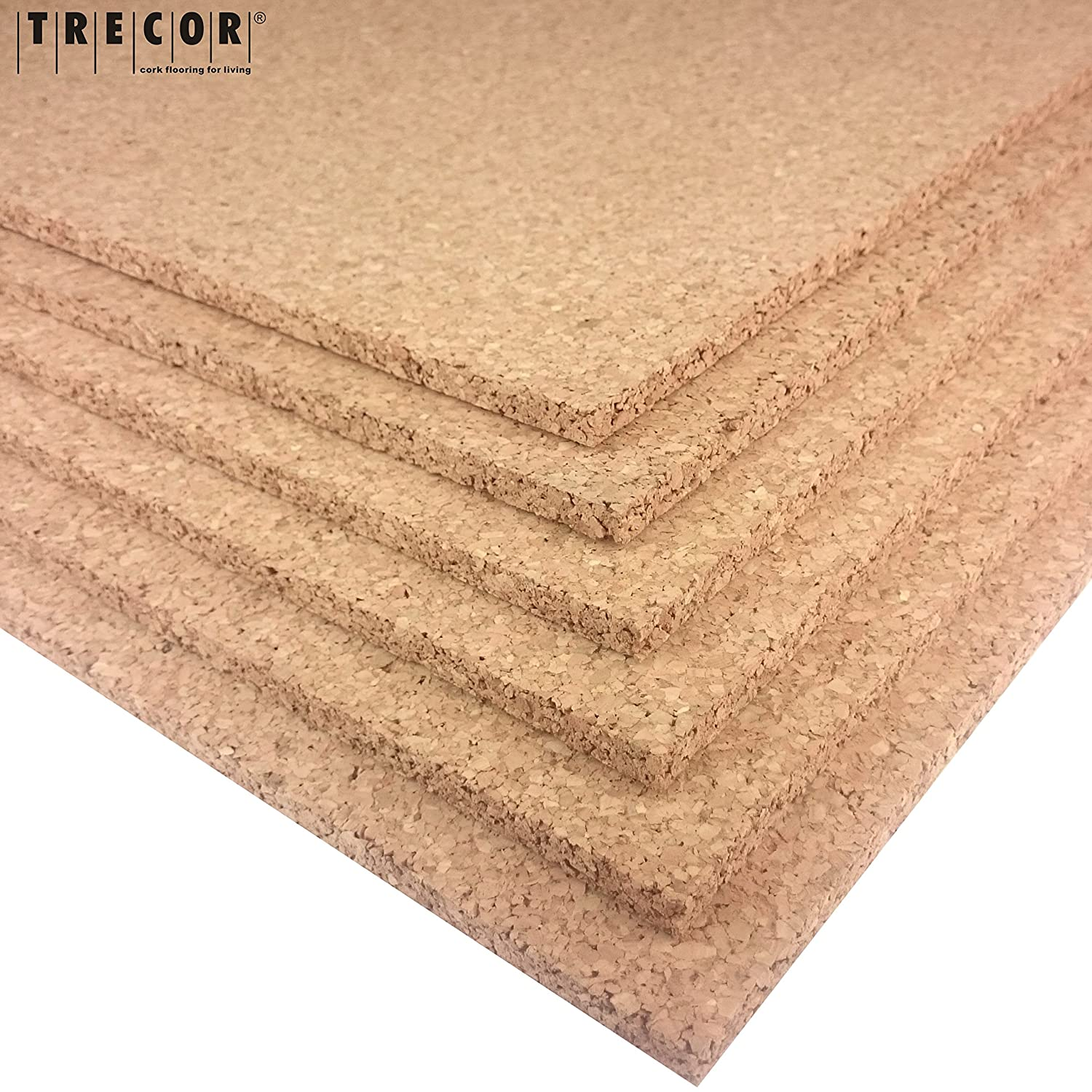Highly Flexible and Antistatic Trecor Pin Board Cork Sheet Format: 1000 x 500 mm 20 mm High-Quality Cork Sheet Thickness: 20 mm one side honed for perfect look Thickness Options: 2
