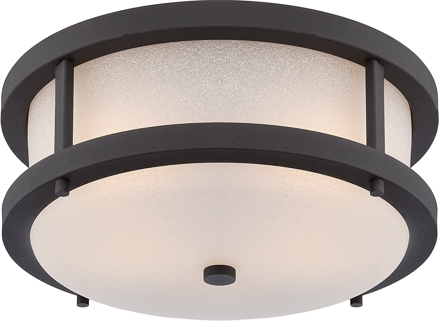 Nuvo Lighting 62/653 Willis LED Outdoor Flush Fixture with Antique White Glass by Nuvo Lighting  B0136PU6D6