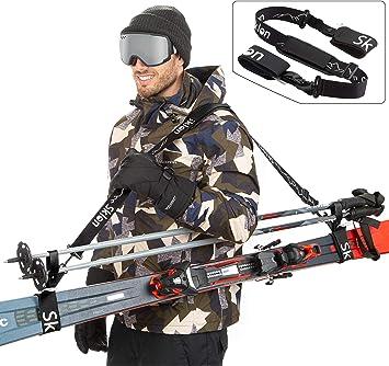 Amazon.com: Correa de esquí y poste transportista por sklon ...