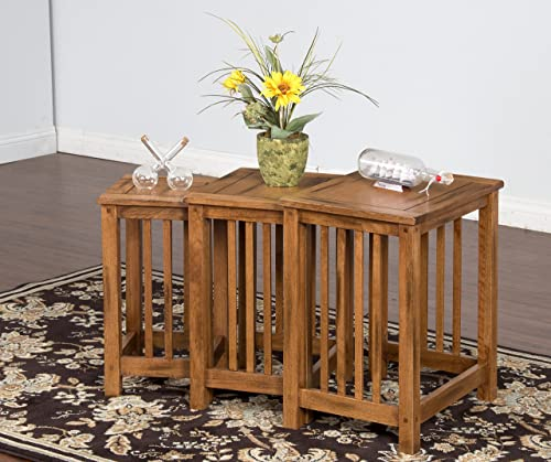 Sunny Designs Sedona 3-Piece Nesting Table