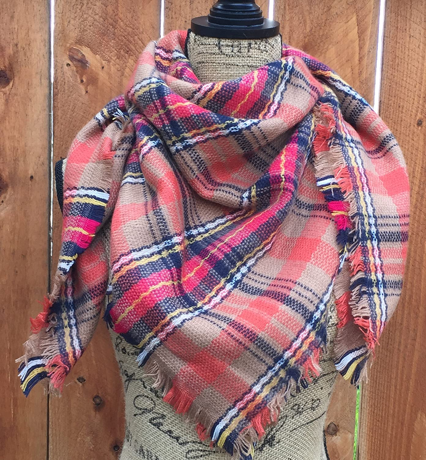 Girls Blanket Scarf, Child's Blanket Scarf By Uptown Girl Co