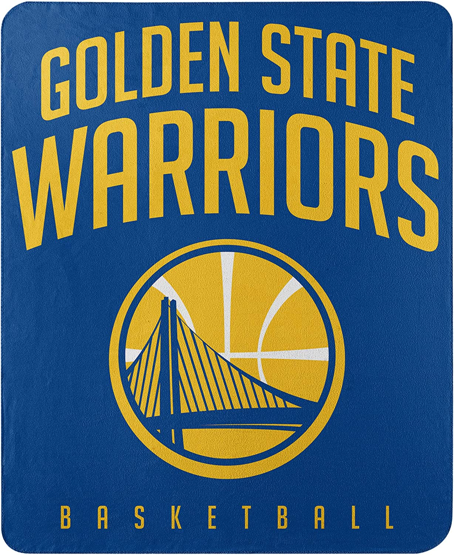 Northwest NBA Golden State Warriors 50x60 Fleece Layup DesignBlanket, Team Colors, One Size