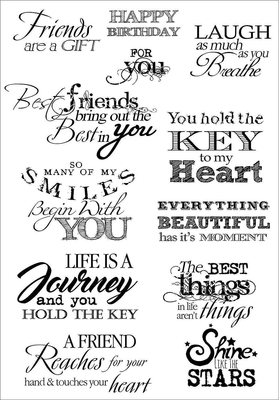Debbi Moore Designs Debbi Moore Life Quotes A5 foglio di francobolli