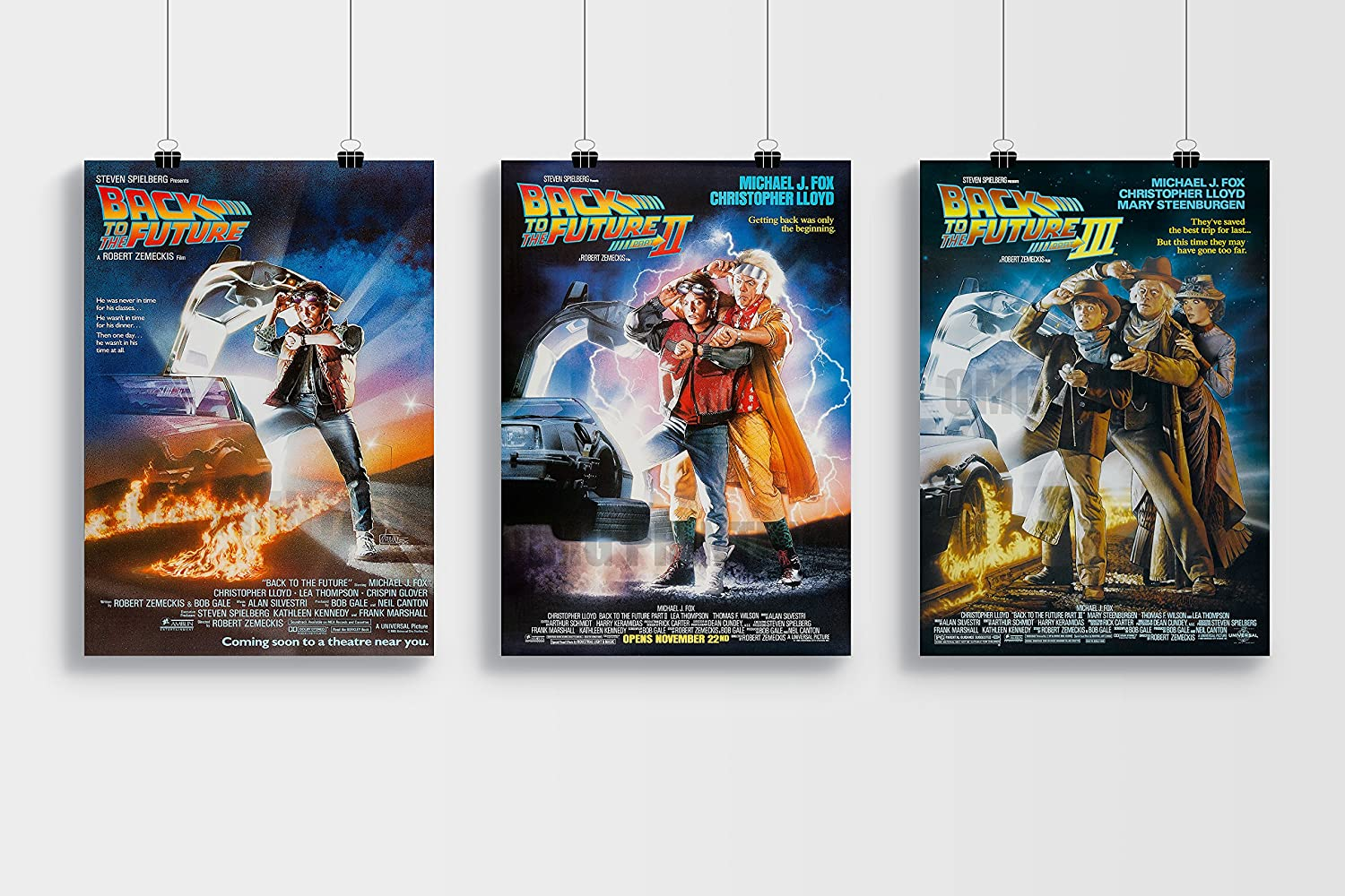 Back to the Future Trilogy A3 Poster Set