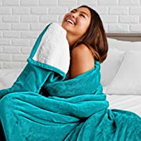 Bare Home Sherpa Fleece Blanket - Twin/Twin Extra Long - Fluffy & Soft Plush Bed Blanket - Hypoallergenic - Reversible…