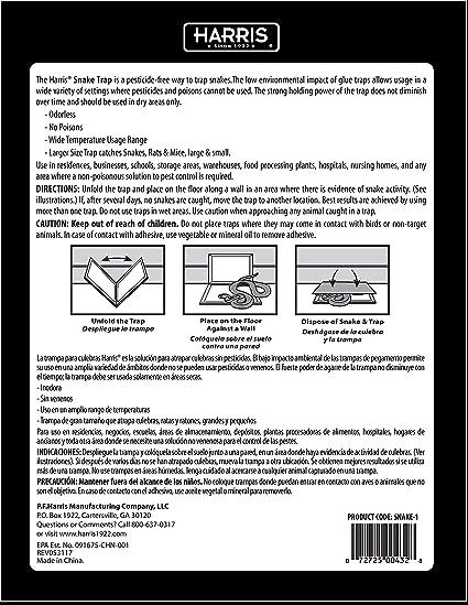 Amazon.com : Harris Supersized Snake Glue Trap - Extra Strength, Non-Toxic Multipurpose (3-Pack) : Garden & Outdoor