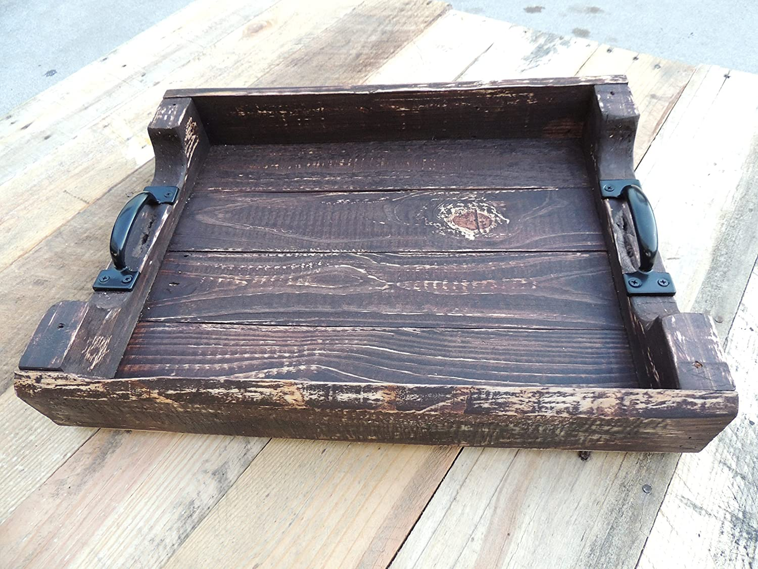 Genial Amazon.com: Rustic Wood Coffee Table Ottoman Serving Tray   Large: Handmade