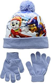 d2a97cf3dbb Boys Paw Patrol Chase Childrens Winter Beanie Hat   Gloves Official ...