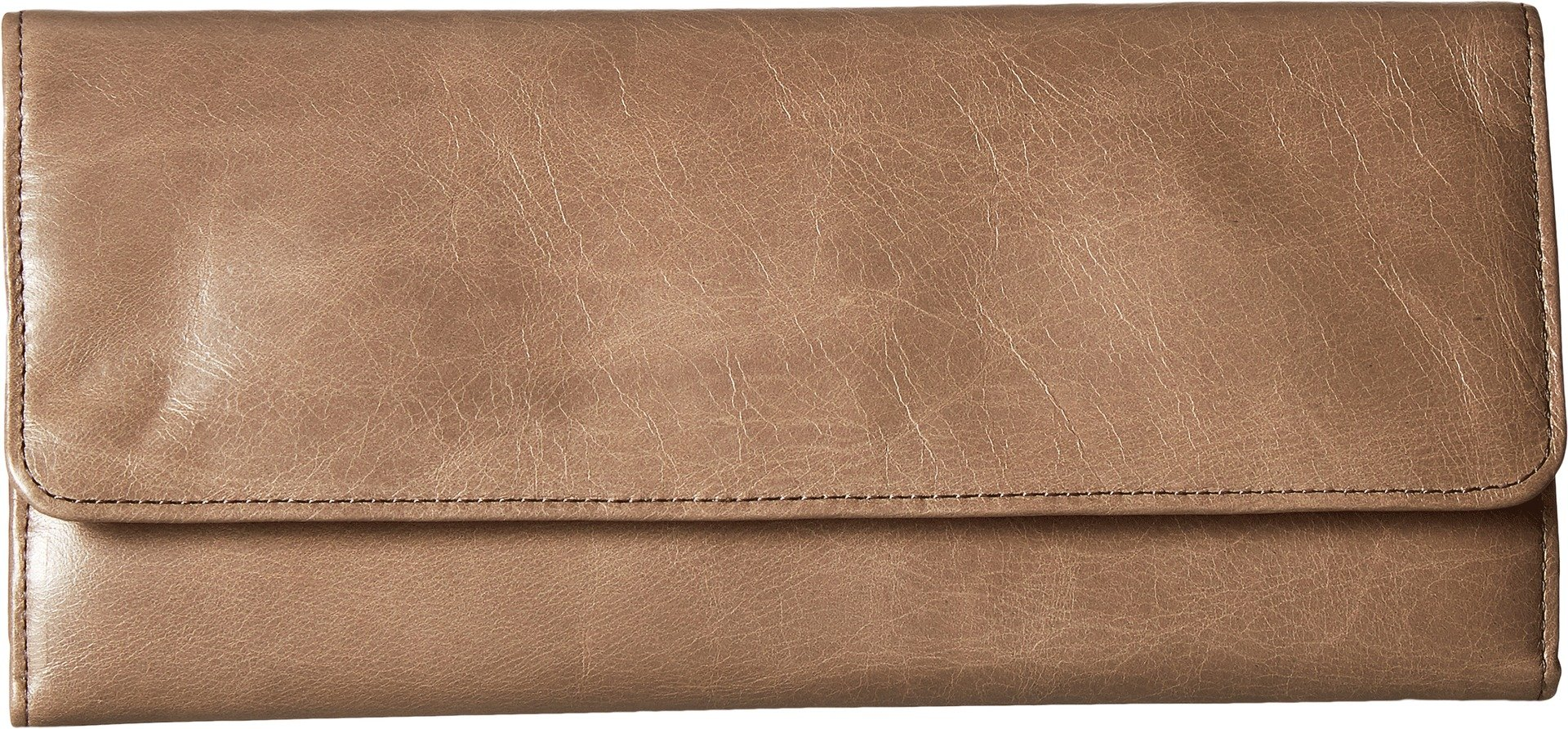 Hobo Womens Leather Sadie Continental Clutch Wallet (Ash)