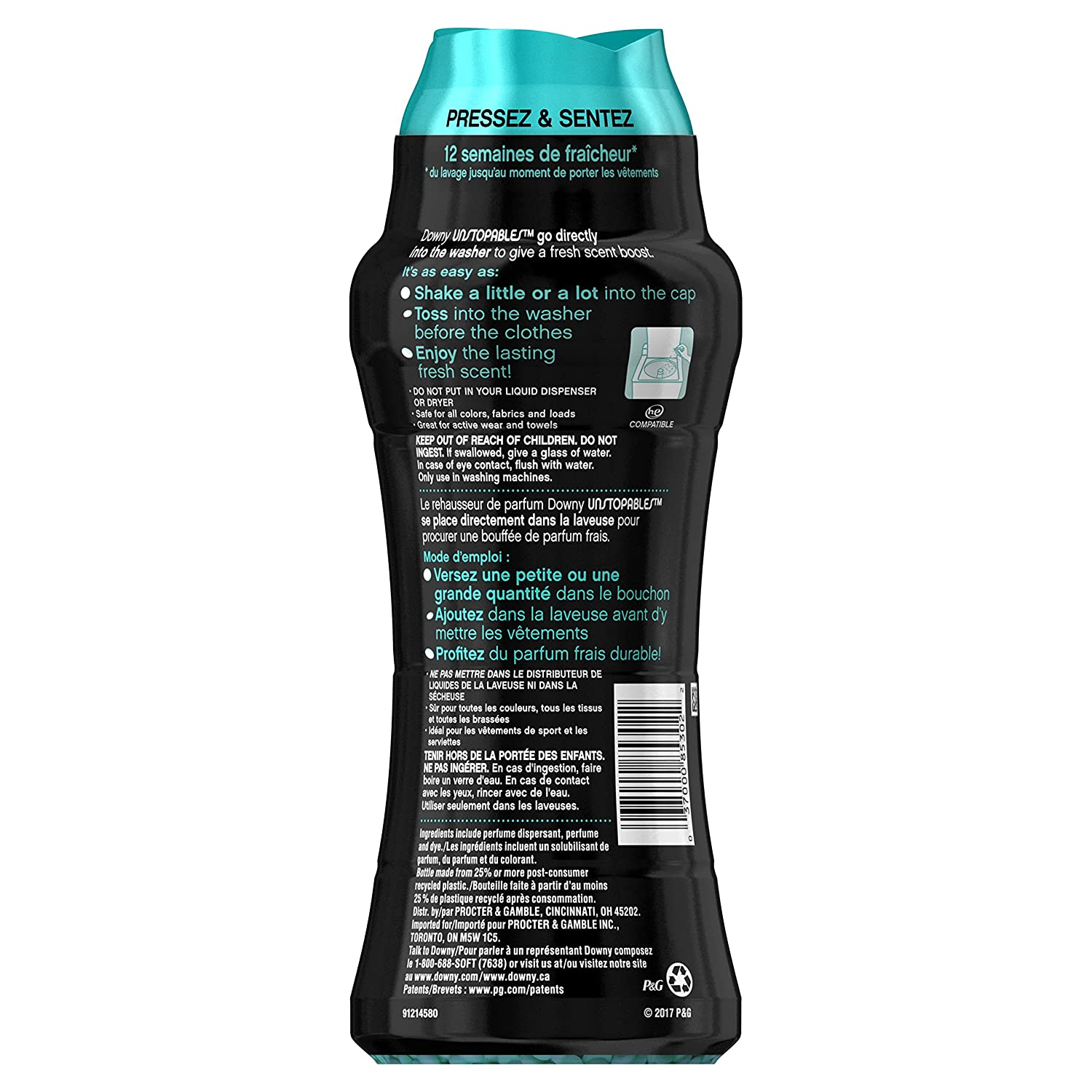 Amazon.com: Downy Unstopables In Wash Booster, Fresh Scent, 19.5 Oz: Prime  Pantry