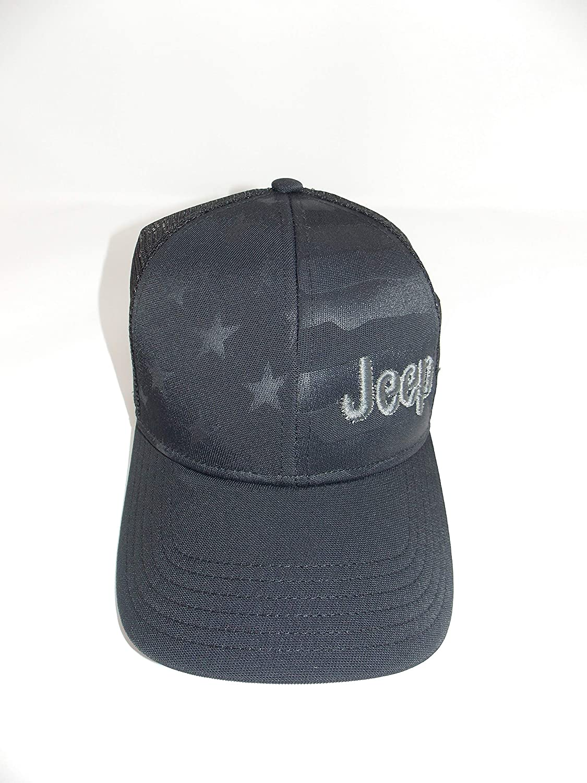 Jeep American Flag Meshback Cap Black