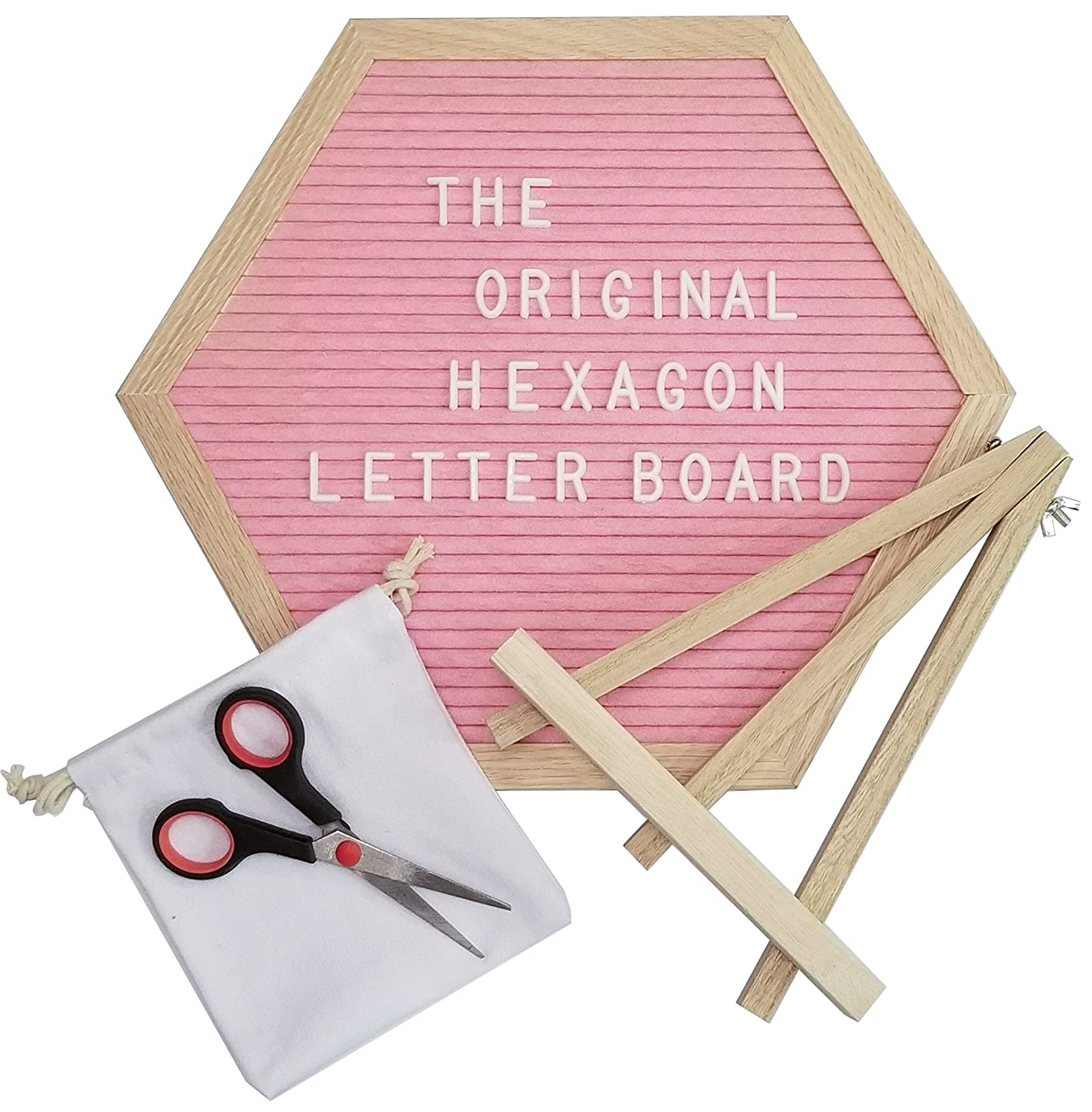 Amazon.com : The Original Hexagon Felt Letter Board, 12 Inch x 14 ...