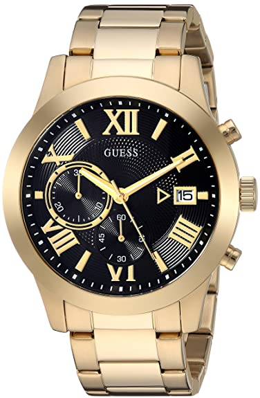 GUESS Mens Gold-Tone Chronograph Watch