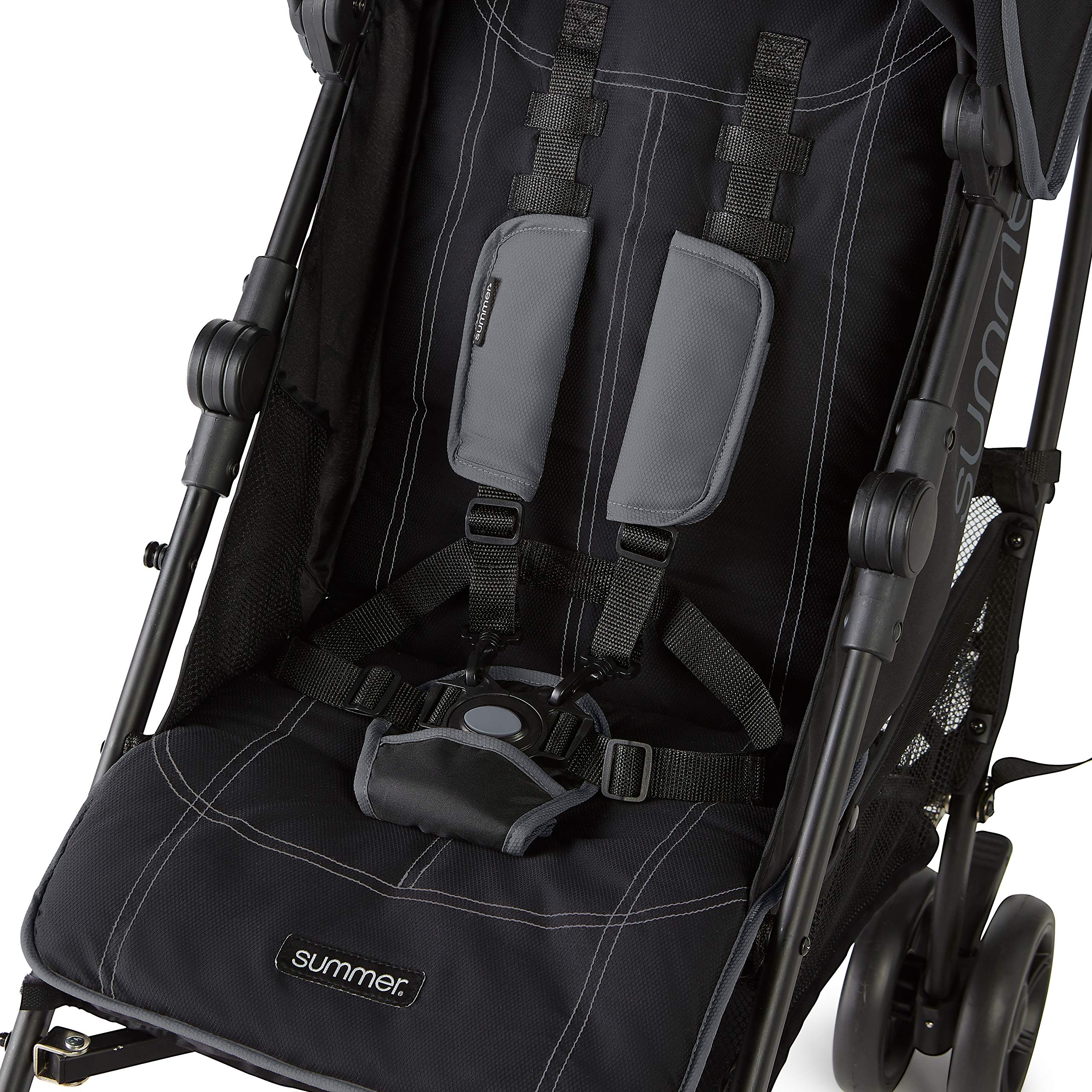 Summer 3Dlite+ Convenience Stroller, Matte Black - Lightweight Umbrella Stroller with Oversized Canopy, Extra-Large Storage and Compact Fold by Summer Infant (Image #5)