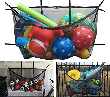 Giant Mesh Storage Bag   Hangs Almost Anywhere   For Fence/Pool/Garage/