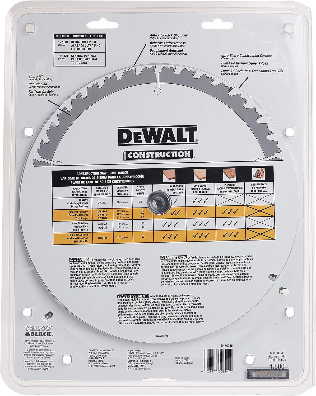 DEWALT 12-Inch Miter Saw Blade