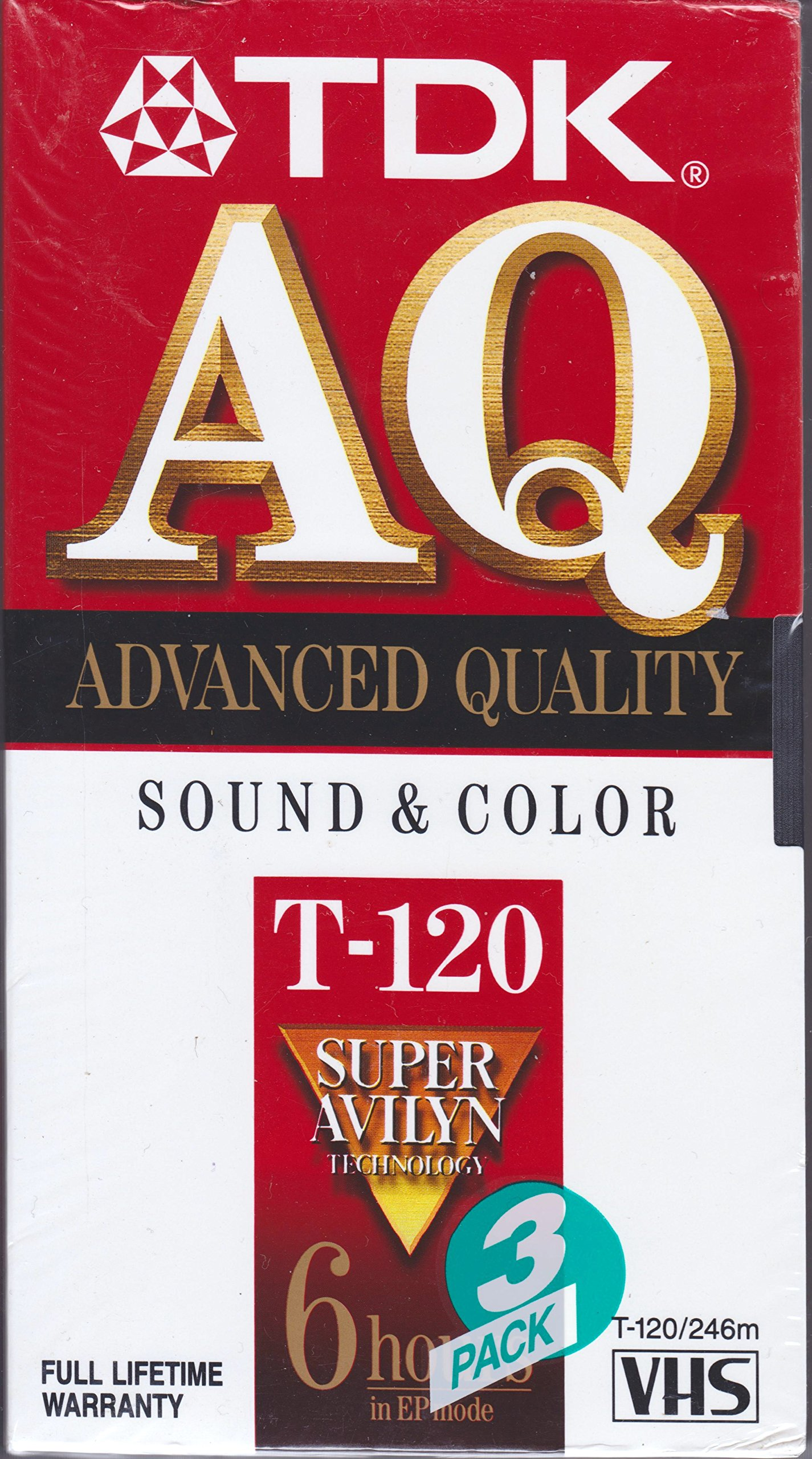 TDK 120 min VHS Video Cassette (3-Pack) by TDK