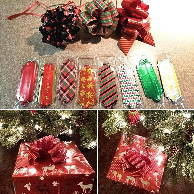 websun Pull Bows para Navidad decoración y regalo (12 piezas con diferentes patrones): Amazon.es: Hogar