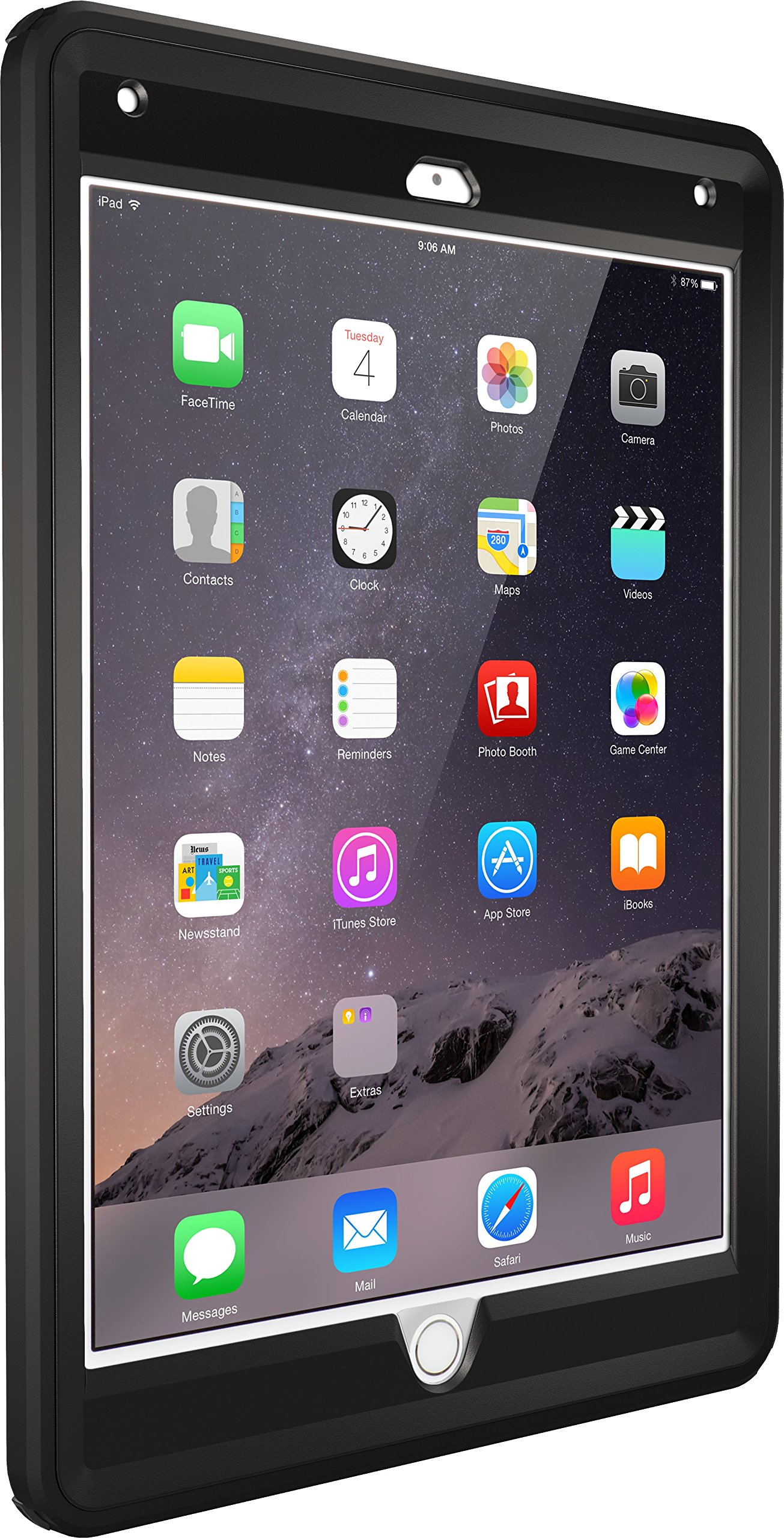 OtterBox DEFENDER SERIES Case for iPad Air 2 - Retail Packaging - BLACK