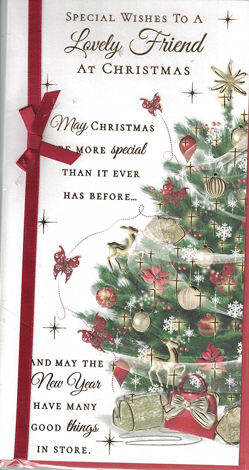 Friend christmas card to a very special friend at christmastime friend christmas card to a very special friend at christmastime red xmas tree px 39154 amazon toys games kristyandbryce Gallery