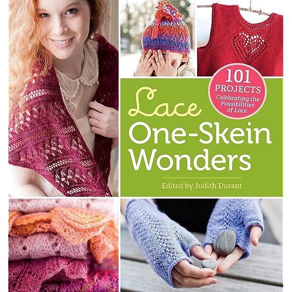 Lace scarf single skein knitting kit