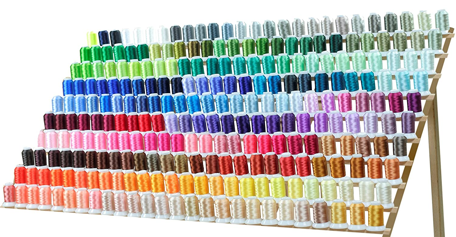 260 Spools Polyester Machine Embroidery Thread Set 40wt for Brother Babylock Janome Singer Pfaff Husqvarna Bernina Machines