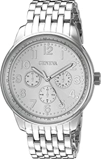 Geneva Womens FMDM161C Analog Display Japanese Quartz Silver Watch
