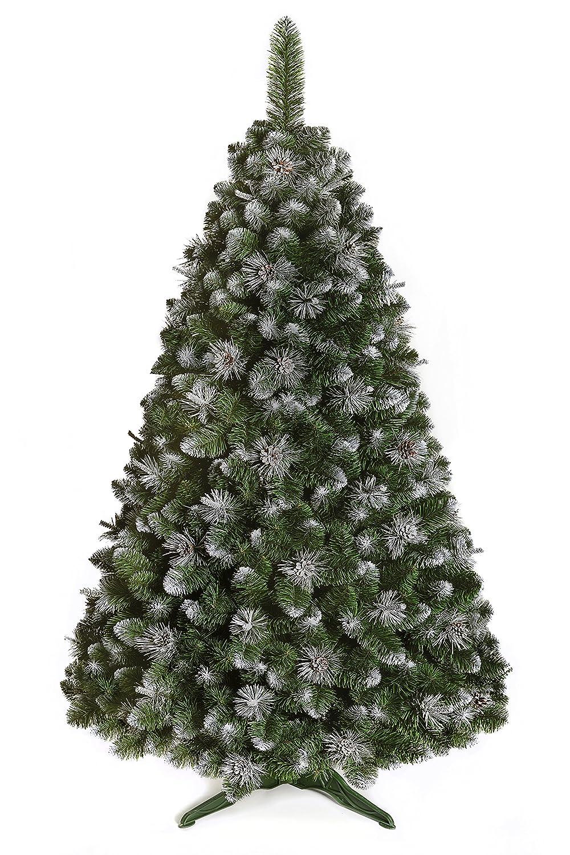 SILBERKIEFER Weihnachtsbaum Kunstbaum künstlicher Baum Weihnachten Schnee Tannenbaum Kiefer Fichte inkl.100st.Mini HARIBO Goldbären (250cm)