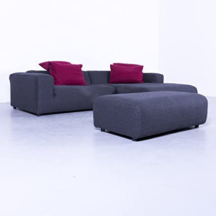 Rolf Benz Freistil 187 Ecksofa Garnitur Stoff Grau Couch Modern #5380