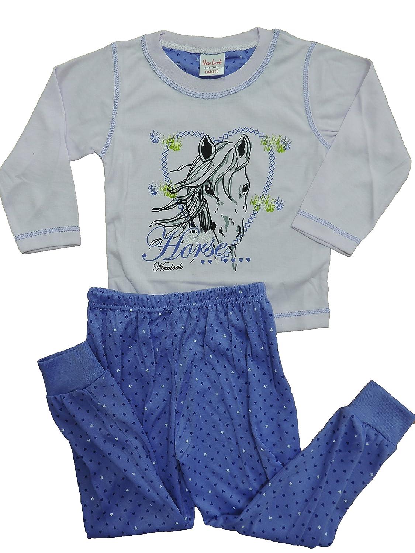 Mädchen Schlafanzug Pyjama in den Größen 104-164