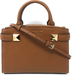 d24a2c568130 Amazon.com: Michael Kors Adele MD Leather Messenger Bag in Black ...