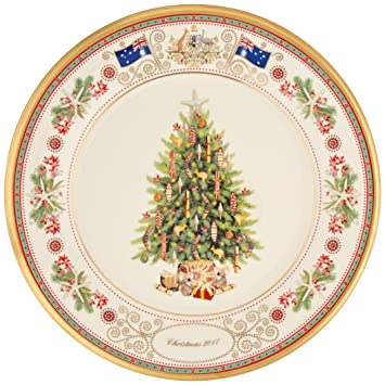 Amazoncom Lenox 2017 Trees Around The World Collector Plate