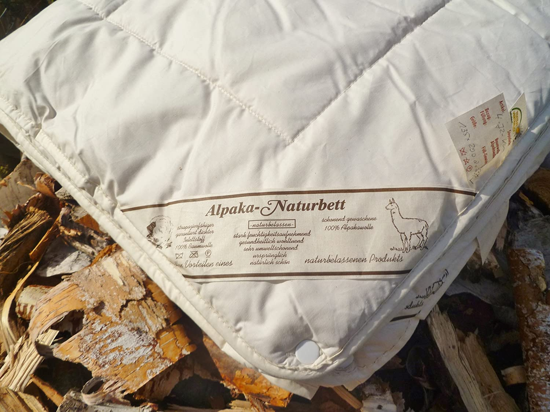 Bettdecke Winter 100% ALPAKA Lama 135x200cm Qualitäts-Naturbett warm