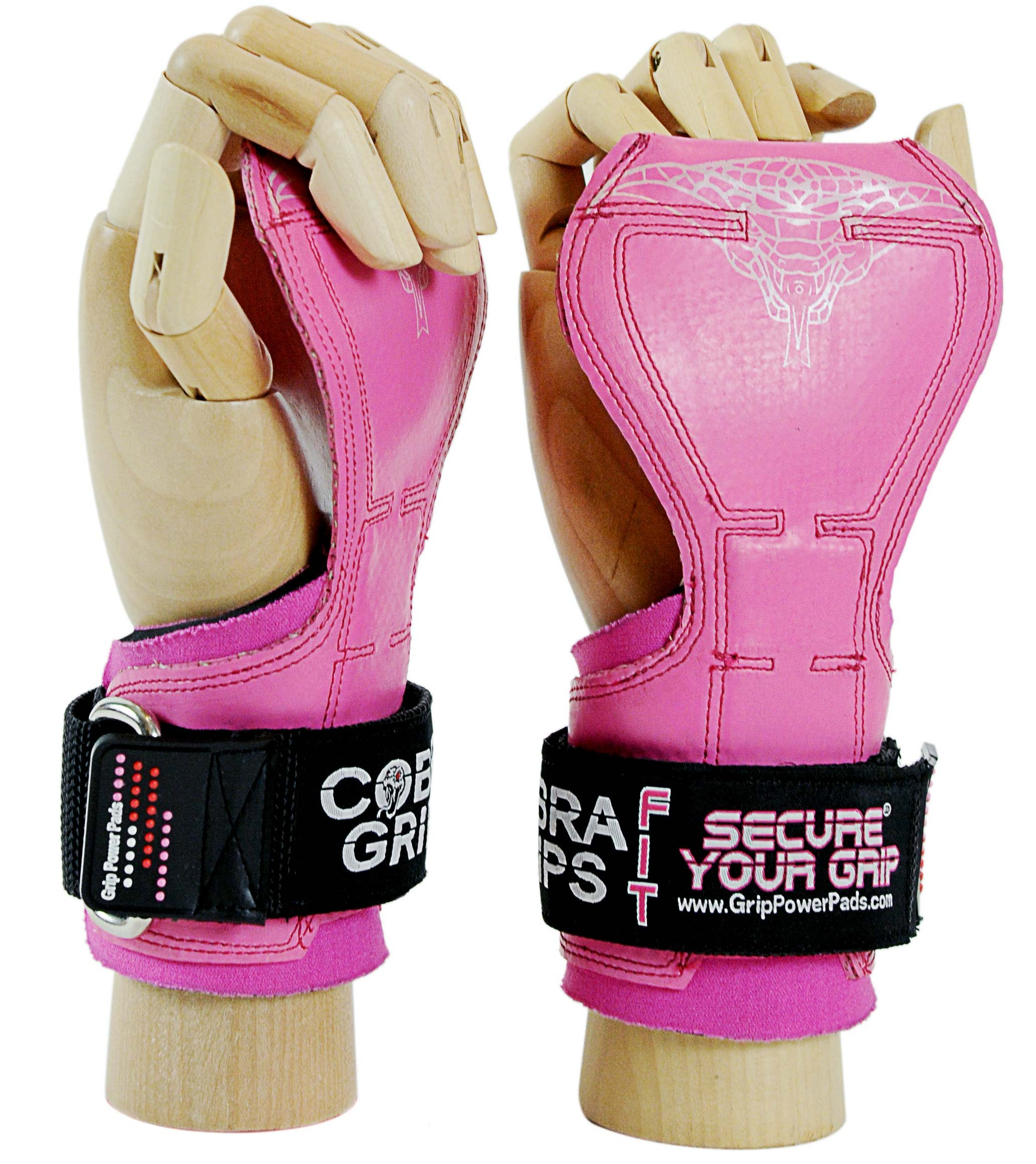 Cobra Grips FIT Weight Lifting Gloves, Heavy Duty Straps, Alternative to Power Lifting Hooks, Power Lifting, for Deadlifts with Built in Adjustable Neoprene Padded Wrist Wrap Support. by Grip Power Pads
