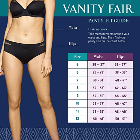 c0d19431413 Vanity Fair Women s Flattering Lace Cotton Stretch Hi Cut Panty 13395 at  Amazon Women s Clothing store