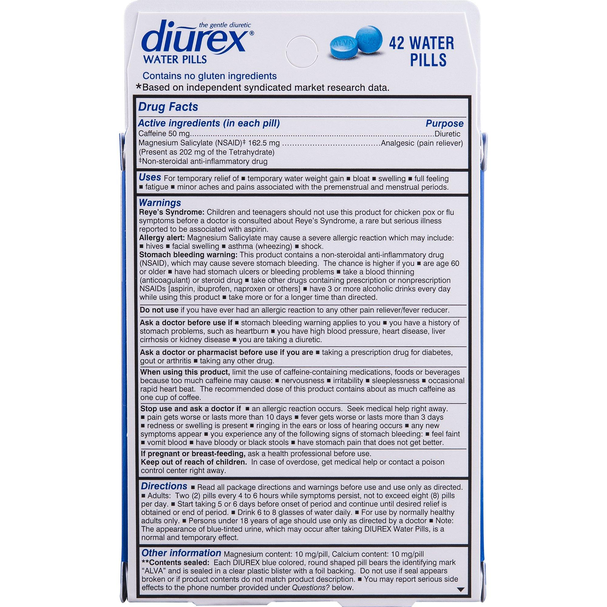 Diurex Water Pills, 42 Count Pills (Pack of 3) by Diurex (Image #3)