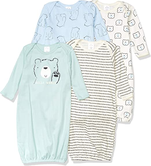 GERBER Baby Boys 4-Pack Gown